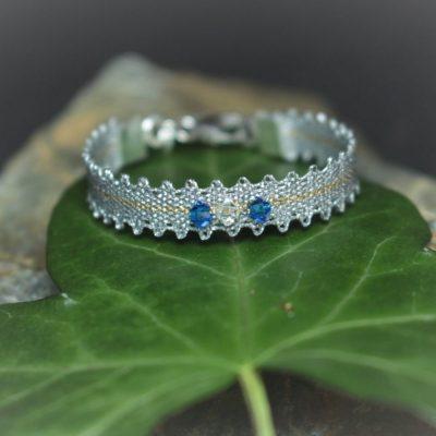 Taufband_blau kristall_silber
